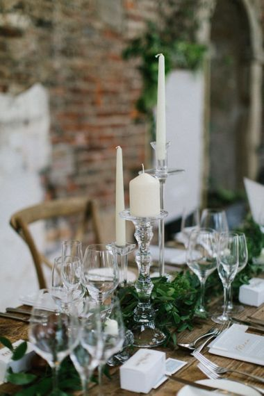 Glass Candle Sticks and Holders Wedding Decor and Acrylic Wedding Signs