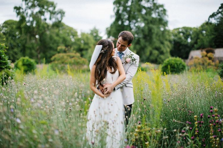 Bride and Groom Portrait in the Vines