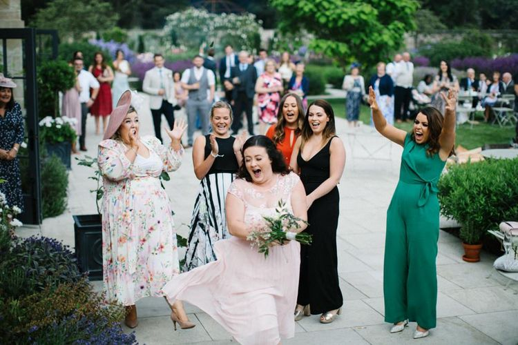 Wedding Guest who caught the bridal bouquet