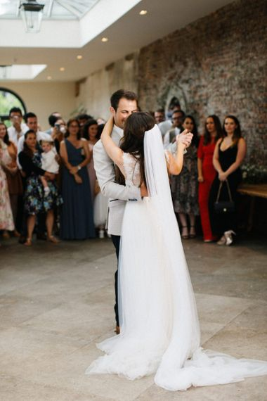 Bride and Groom First Dance at Middleton Lodge