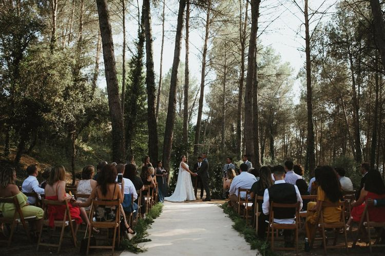 Forest wedding ceremony in Spain
