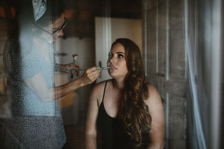 Bridal makeup and preparations