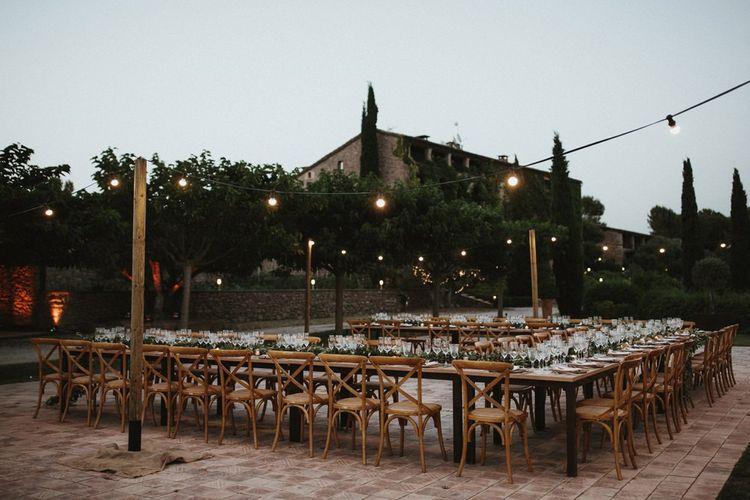 Outdoor wedding at Spanish villa