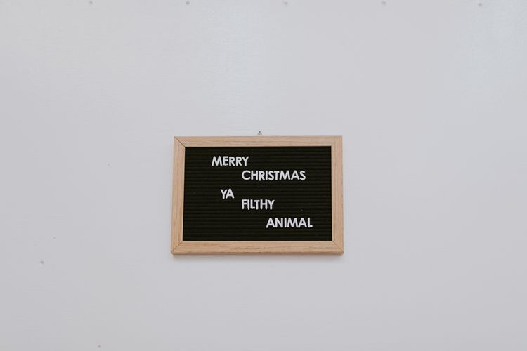 Merry Christmas Ya Filthy Animal Peg Board Sign