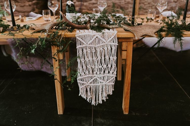 Macrame Top Table Decor