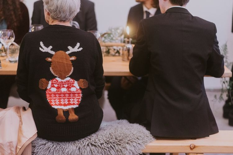 Wedding Guests in Christmas Jumpers