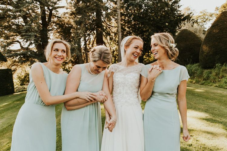 Sage green bridesmaid dresses from Maids to Measure