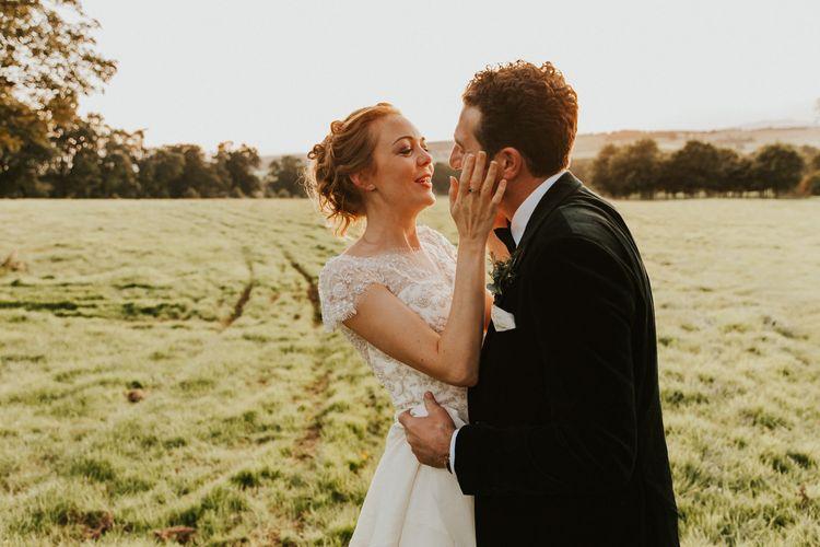 Bridal updo for Askham Hall wedding
