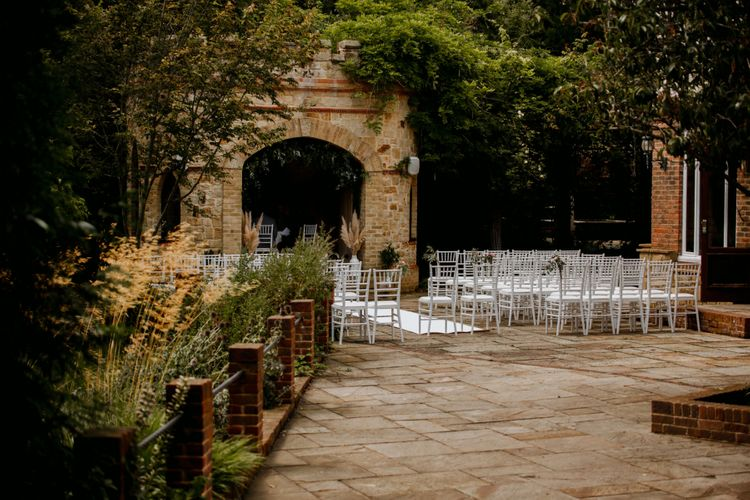 Outdoor ceremony at The Ravenswood wedding venue