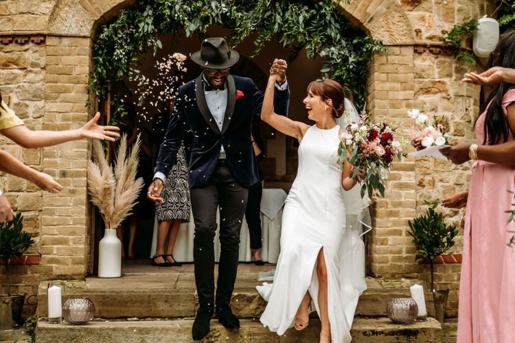 Confetti moment for 2017 X Factor finalist Kevin Davy White and wife Amy