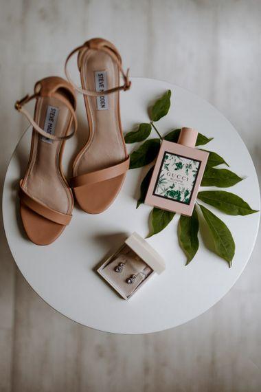 Blush pink Steve Madden bridal shoes
