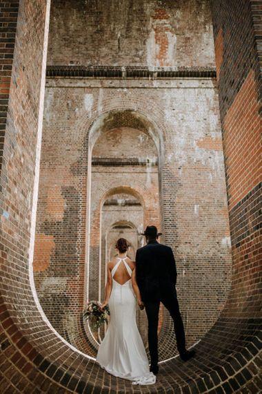 Stylish bride and groom portrait by Paul & Nanda