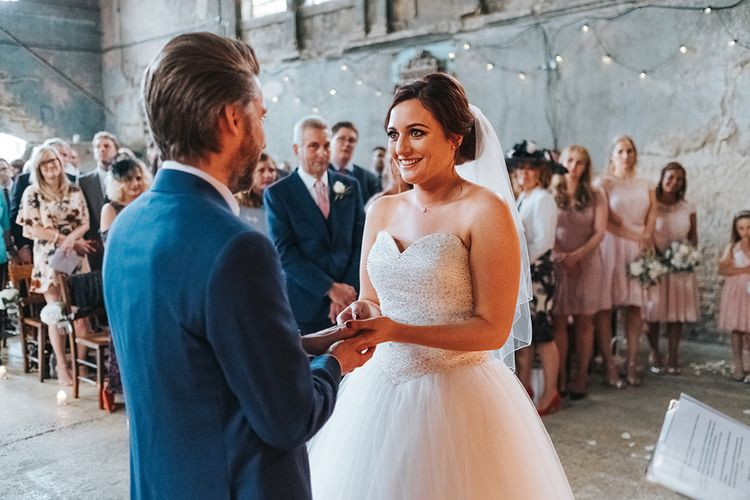 Asylum Chapel Wedding Ceremony // The Groucho Club Private Members Club London Wedding With Bride In Sequinned Dress & Flowers By Daisy Ellen Images By Miss Gen Photography