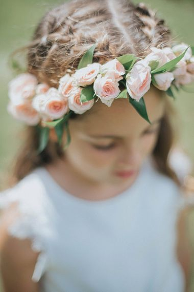 Flower Girl with Pink Flower Crown