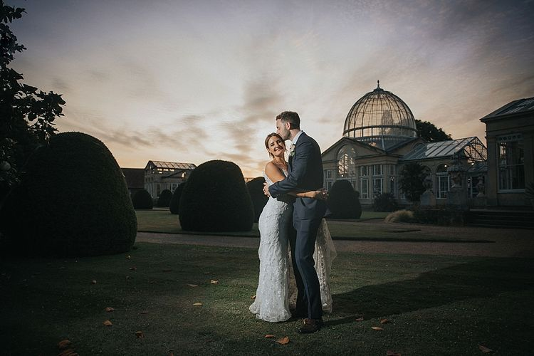 Beautiful Orangery with Bride and Groom in Essex