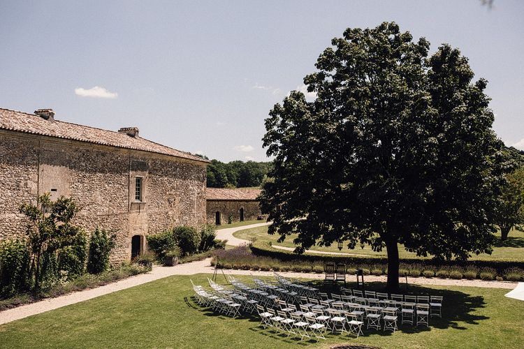 Outdoor Wedding Ceremony at Chateau Rigaud