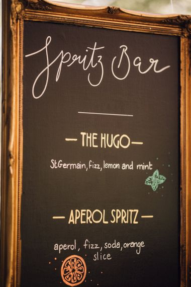 Spritz Bar Menu