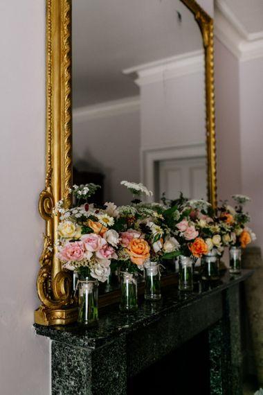 Gorgeous Wedding Flowers in Jars