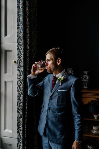 Groom During Wedding Preparations
