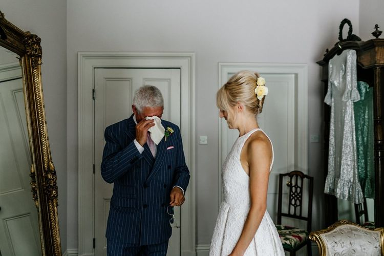 Father of The Bride Gets Emotional After Seeing Daughter In Dress
