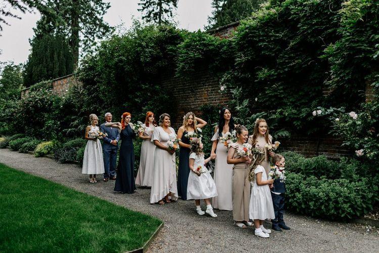 Bridal Party Prepare to Enter Ceremony
