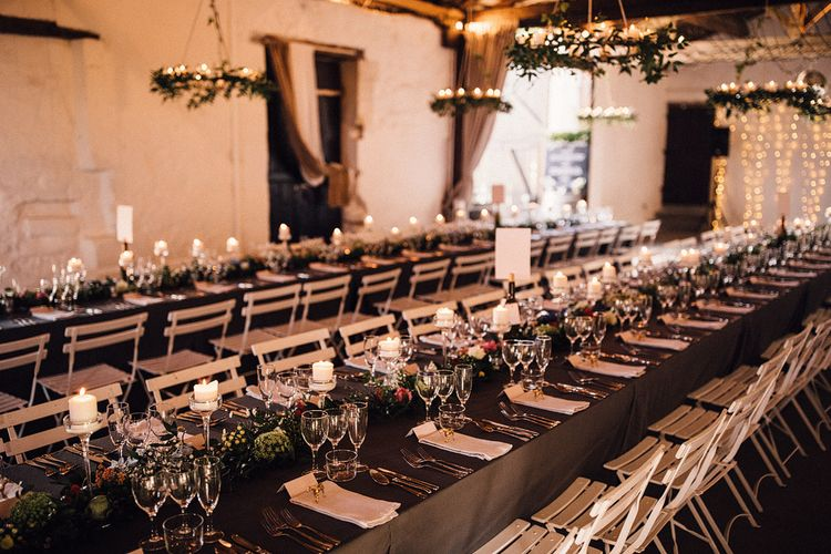 Wedding Breakfast Tables Styled with Candles