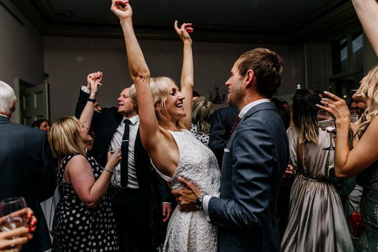 Bride and Groom Enjoy Dance During Reception