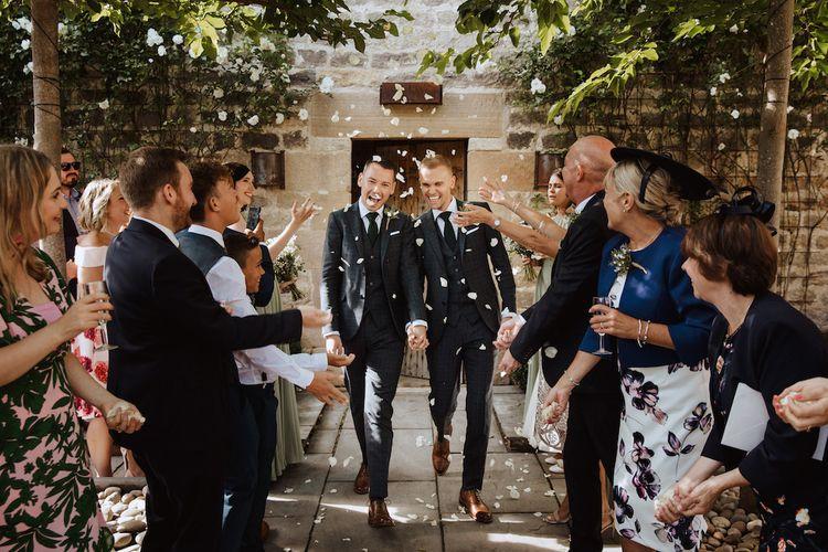 Confetti Moment at Same-sex Wedding