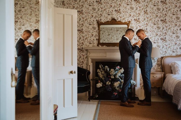 Grooms Getting Ready Together Before Their Gay Wedding