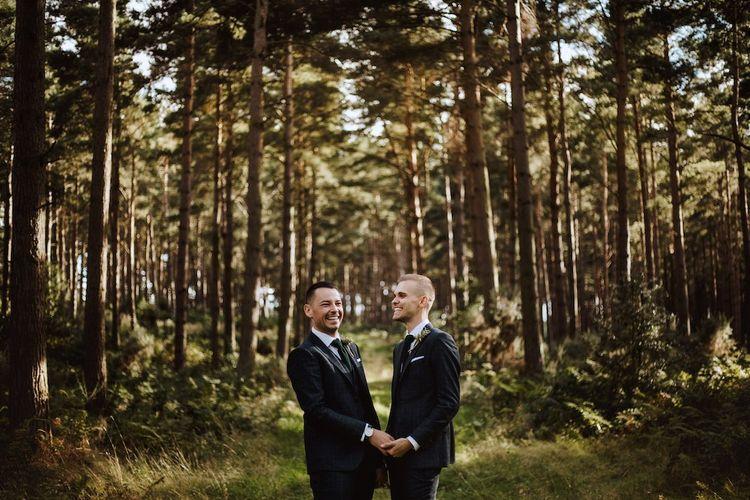 Grooms Portrait at Gay Wedding
