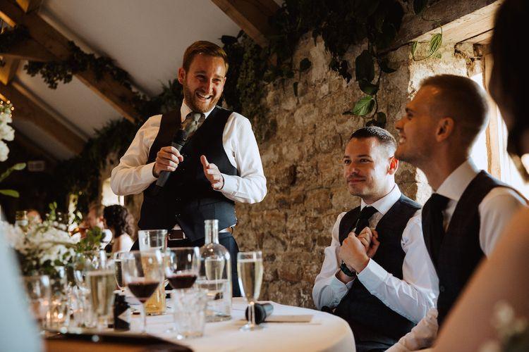 Best Man Wedding Reception Speech at Healey Barn