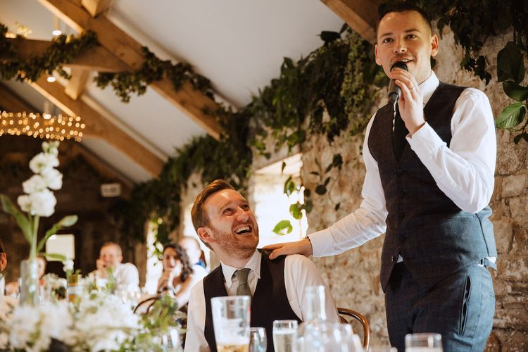 Grooms Wedding Speech at Healey Barn