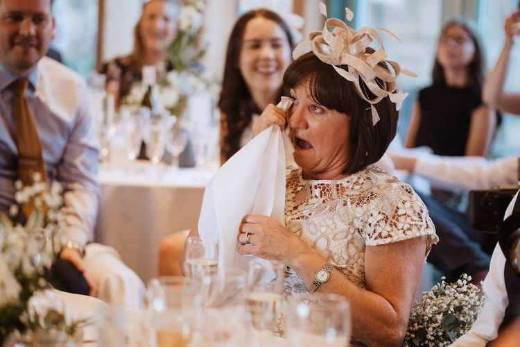 Mother of the Groom Crying During The Wedding Speeches