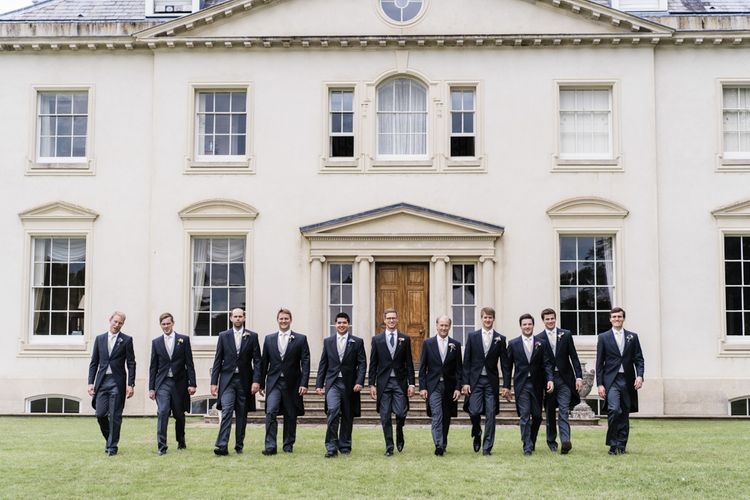 Morning suits for groom and groomsmen