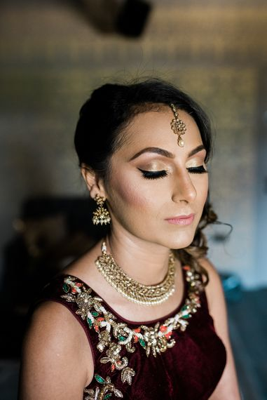 Traditional Lengha  // Bridal Makeup // Wharfedale Grange, Yorkshire // Photography by Kazooieloki.