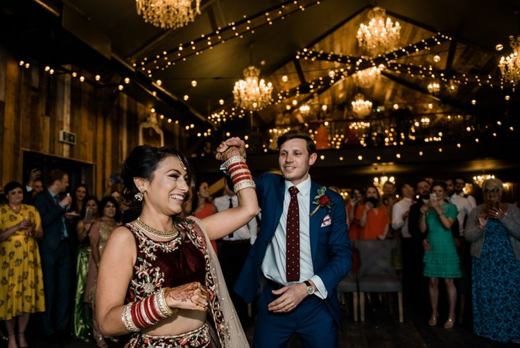 Dancing // Anglo Indian Fusion Wedding // Yorkshire // Photography by Kazooieloki.