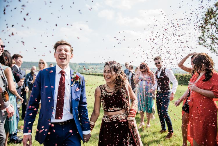 Confetti // Anglo Indian Fusion Wedding // Yorkshire // Photography by Kazooieloki.