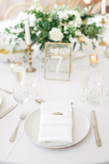 Gold Frame Table Number Decoration For Wedding Blue Bridesmaid Dresses