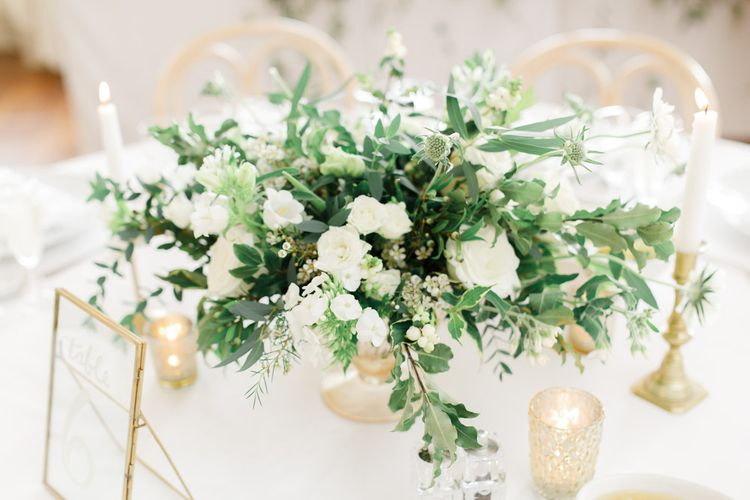 White Wedding Flowers For Wedding Table Decor