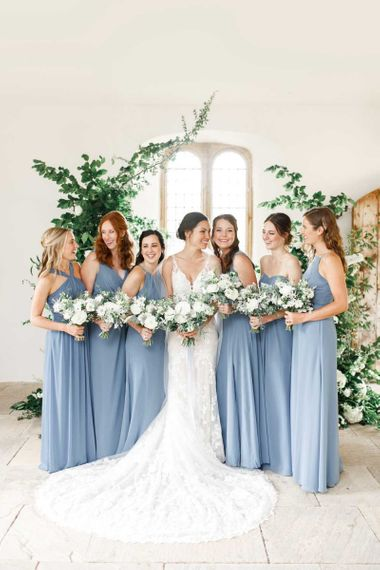 Beautiful Blue Bridesmaid Dresses For Country Wedding