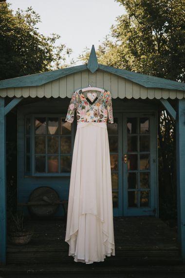 Colourful Embroidered Luna Bride Wedding Dress