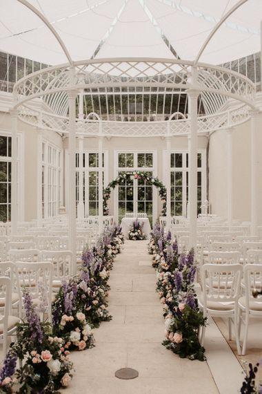Floral Aisle Decor and DIY Flower Arch