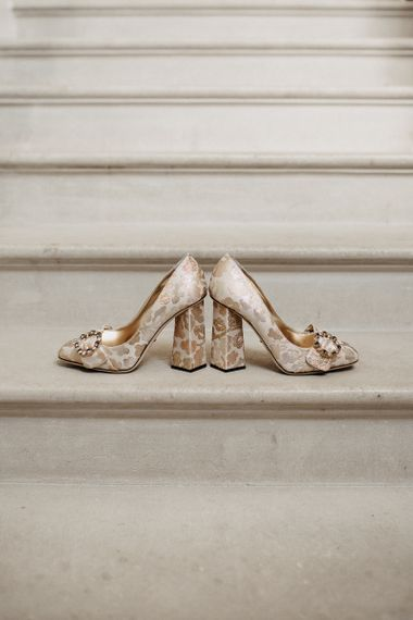 Dolce And Gabbana Bride Shoes in Champagne