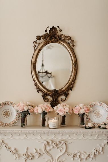 Pink Bridesmaid Bouquets by Mirror