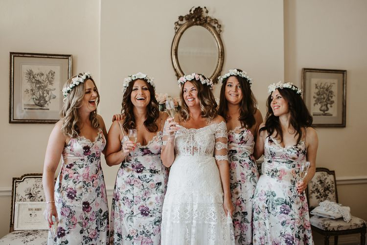 Bridal Party During Wedding Preparations