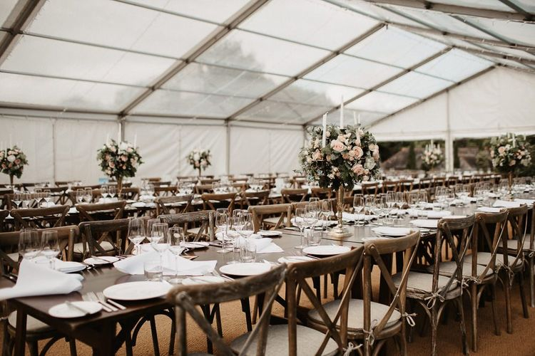 Wedding Reception Clear  Span Marquee