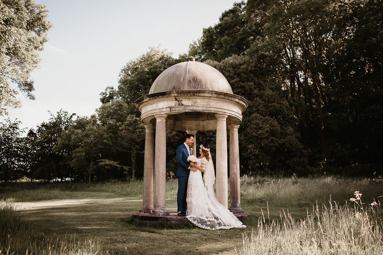Bride and Groom Portrait for Outdoor Reception
