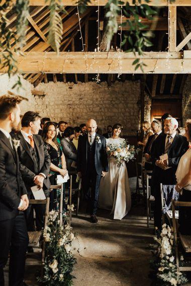 Wedding Ceremony Bridal Entrance in Emma Beaumont Wedding Dress