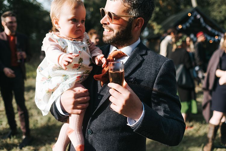 Groom In Tweed Suit | Outdoor Woodland Wedding at Wiveton Hall, Norfolk with Folk Festival Vibes | Miss Gen Photography