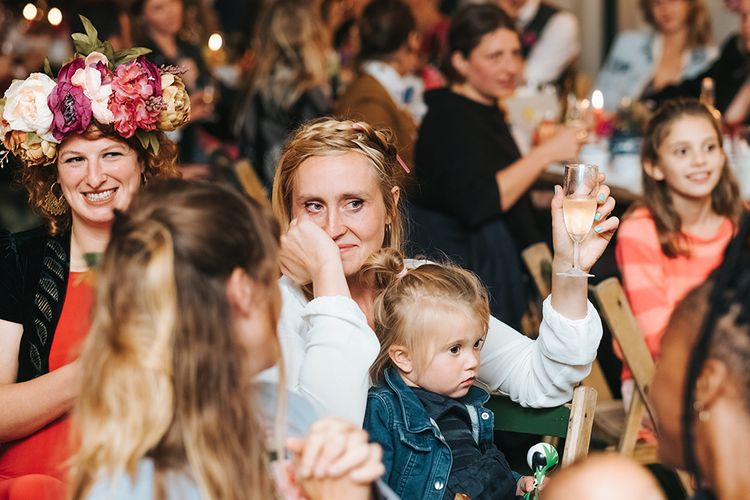 Wedding Speeches | Bridal Braid | Outdoor Woodland Wedding at Wiveton Hall, Norfolk with Folk Festival Vibes | Miss Gen Photography